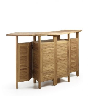 Mueble bar en teca de estilo exquisito para exterior