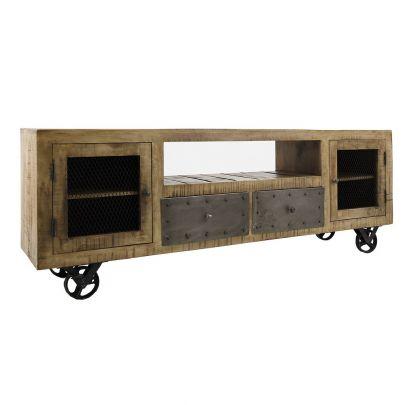 mueble tv industrial bieber