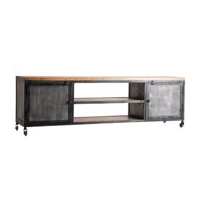 mueble industrial Tv hierro madera