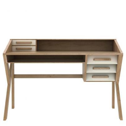 escritorio de estilo nordico de madera maciza de roble