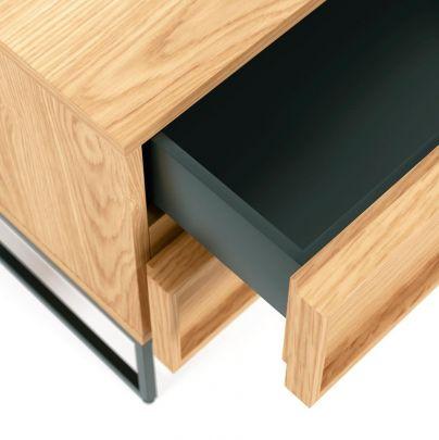 mesita industrial madera