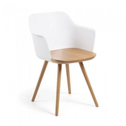 silla nordica madera plastico