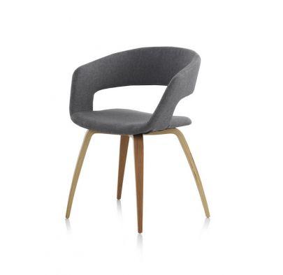 silla nordica dmf roble tapizada