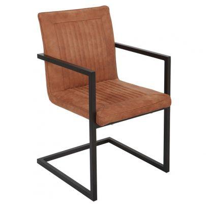Silla-tapizado-marron-vintage-polipiel