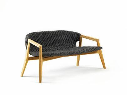 sofá dos plazas exterior Knit Ethimo