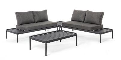 Set sofá rinconero exterior minimalista Bizzotto Homemotion