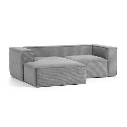 Sofa 2 plazas Blok  pana  gris