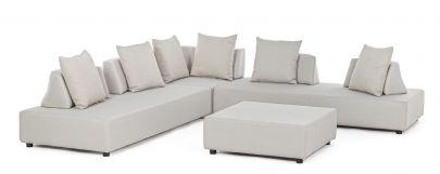 Set sofá esquinero Pipper Bizzotto Homemotion completo