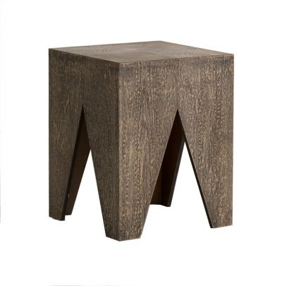 taburete vintage madera decapado