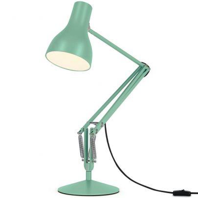lampara de esritorio de anglepoise este es el modelo 75 Margaret Howell Edition en color verde